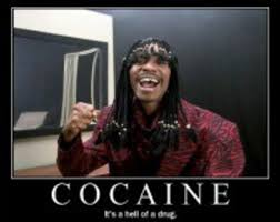 Crack Cocaine Meme - rick james was right cocaine is a hell of a drug fight ends with