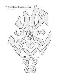 darth maul stencil free stencil gallery