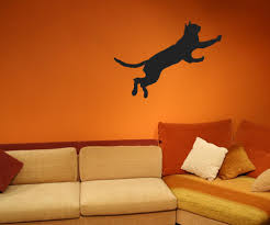 vinyl wall decal sticker jumping cat os mb386
