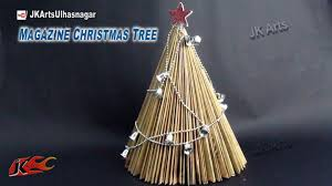 how to make paper tree from waste magazine diy