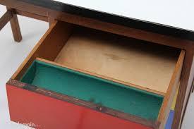 couleur bureau petit bureau avec tiroirs de couleur 1950s