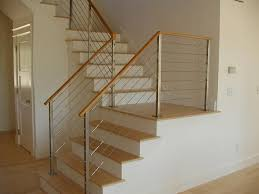 cable stair railing indoor unique shaped decoration fence