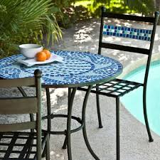 Albertsons Patio Set by Amazon Com Coral Coast Marina Mosaic Bistro Set Garden U0026 Outdoor