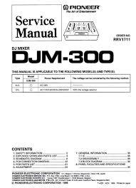 pioneer djm 300 mixer original service manual pdf format