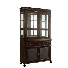 Display Hutch Home Styles Small Buffet With Two Glass Door Hutch Cottage Oak
