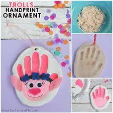 handprint trolls salt dough ornament i arts n crafts