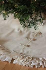 tree skirt white burlap tree skirt with grey and silver