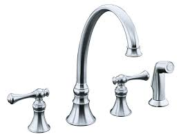 Polished Brass Kitchen Faucet Kitchen 12 Kohler Bellera Stainless Steel 1 Handle Pull Down
