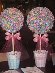 How To Make Ribbon Topiary Centerpieces by Rainbow Dum Dum Gum Ball Candy Land Centerpiece Topiary Candy