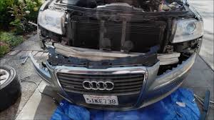 audi a3 front bumper removal how to remove front bumper cover on a8l d3 to access g65 sensor