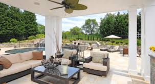 Modern Outdoor Patio by Favored Design Ceiling Hugger Fans Lowes As Of Wood Ceiling Panels