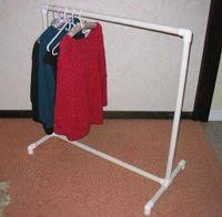 how to build a clothes rack with pipe ehow