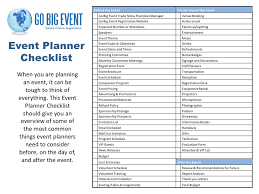 how to be a party planner event planner checklist