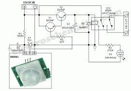 rangkaian skematik sederhana untuk sensor gerak dasar