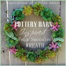 succulent wreath confessions of a plate addict pottery barn inspired faux