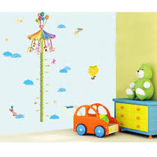 colorful carousel height measure wall stickers kids growth chart does not apply