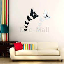 28 butterfly mirror wall stickers mirror wall stickers butterfly mirror wall stickers modern diy 3d mirror wall clock butterfly sticker decal