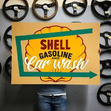 porsche garage decor shell gasoline and car wash artwork car bone pl