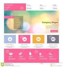 modern web design flat modern web design elements stock vector image 45971590
