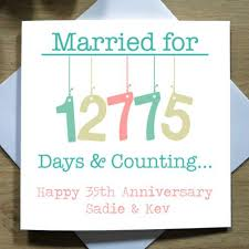 35 wedding anniversary 17 best images about hanging anniversary card collection on