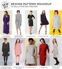 10 fall winter dresses sewing pattern roundup sew diy