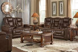 Microfiber Sofa And Loveseat Highway To Home Power Reclining Microfiber Sofa With Drop Down Table