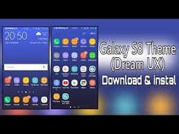 themes galaxy s6 apk galaxy s8 theme dreamux download instal youtube