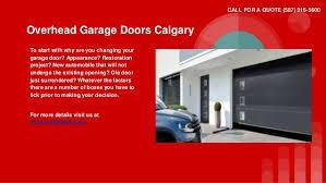 Overhead Garage Doors Calgary Garage Door Repairs Calgary