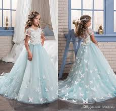 where to buy communion dresses 2017 light blue lace tulle flower dresses for special