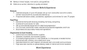 100 Skills Resume Example Resume by Cook Resume Skills Chef Resume Skills 100 Skills On A Resume