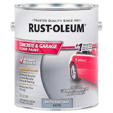Rust Oleum Epoxyshield Basement Floor Coating by Rust Oleum 1 Gal Battleship Gray Satin Concrete Floor Paint 2