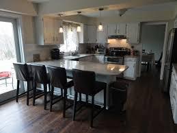 white kitchen island with butcher block top kitchen design ideas
