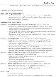 Objective In Resume Samples by Sample Resume For An Accounting Manager Susan Ireland Resumes