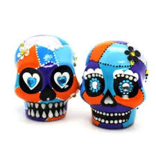 sugar skull cake topper buy blue orange mexican skull wedding cake topper sugar skull cake