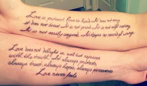 couples quote tattoos colleges all