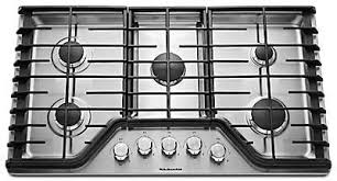 Gas On Glass Cooktop 36 36 Inch 5 Burner Gas Cooktop Architect Series Ii Kgcc566rbl