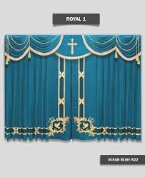 Church Curtains Royal1 Church Ocean Blue R22 Jpg