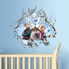 2015 wholesale 3d frozen wall stickers wall sticker removable and