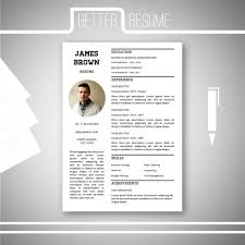 Single Page Resume Template One Page Resume Template Cover Letter Template For Microsoft