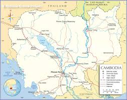 Map Of Southwest Asia by Political Map Of Cambodia Nations Online Project