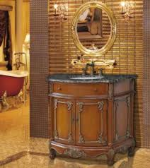 antique bathroom vanities with unique aged finished for an