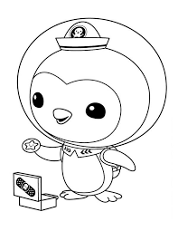 Peso Penguin Opening His Medical Kit In The Octonauts Coloring Octonauts Coloring Pages