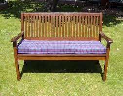 garden bench cushion purple tartan pet u0027n u0027 home