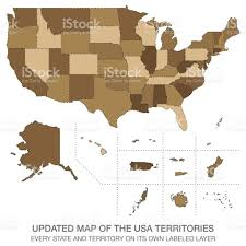 Map If The Usa by Updated Map Of The Usa Territories Stock Vector Art 651205508 Istock