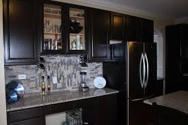 Kitchen Kitchen Cabinet Refacing Diy Into Black With Glossy