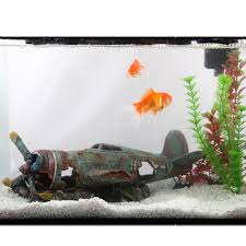 aquariums artificial plane wreckage resin aquarium decor damage