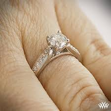 wedding rings pave images Platinum cathedral pave diamond engagment ring 1421 jpg