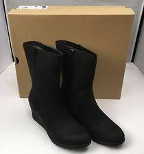 ugg australia s emalie waterproof wedge boot 7us stout brown ugg wedge 7 ebay