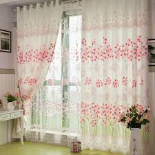 Curtains Floral Floral Country Atmosphere Dining Room Curtains Buy Pink Print