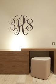monogramed letters fancy monogram initials vinyl wall decal monogram letters